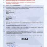 Produktionsqualität Zertifikat