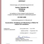 Certifikat Schweden VENTUR